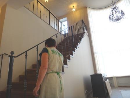 полировка лестницы