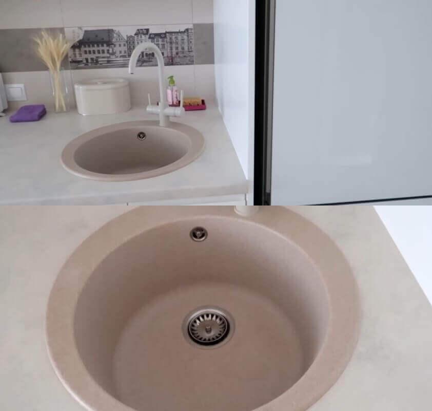 чистим керамическую раковину