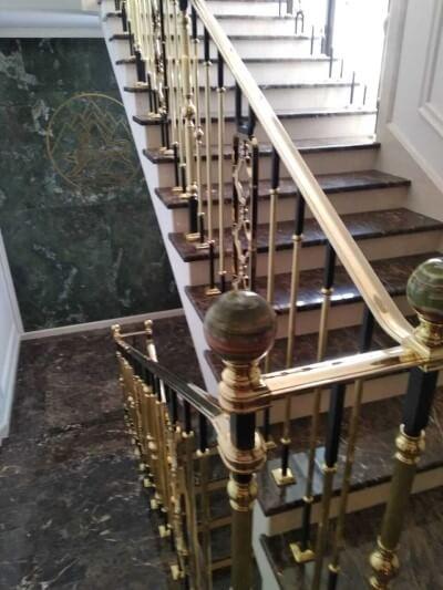 отмываем все элементы лестницы